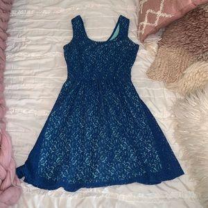 mossimo blue lace dress